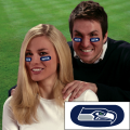 Seattle Seahawks NFL Vinyl Face Decorations 6 Pack Eye Black Strips