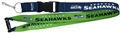 Seattle Seahawks NFL Lime/Blue Reversible Lanyard