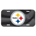 Pittsburgh Steelers NFL Souvenir Black Plastic License Plate