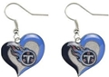 Tennessee Titans NFL Swirl Heart Dangle Earrings *SALE*