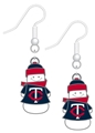 Minnesota Twins Snowman MLB Silver Dangle Earrings *SALE*