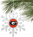 Georgia Bulldogs NCAA Traditional Snowflake Ornament 6ct Box *SALE*
