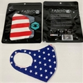 USA Flag Reusable Face Masks w/ Ear Loops - 1 Dozen
