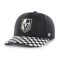 Vegas Golden Knights NHL Black Check Up Two One Adjustable MVP DP Hat *SALE*