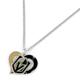 Vegas Golden Knights Swirl Heart NHL Silver Team Pendant Necklace *NEW*