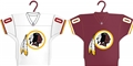 Washington Redskins NFL Home & Away Jersey Ornament 2 Pack Set *CLOSEOUT* - 6 Count Case