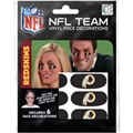 Washington Redskins NFL Vinyl Face Decorations 6 Pack Eye Black Strips *CLOSEOUT*