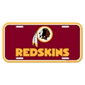 Washington Redskins NFL Souvenir Red Plastic License Plate