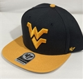 West Virginia Mountaineers NCAA Navy Sure Shot 2 Tone Captain Snapback Hat *NEW*