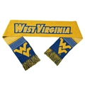 "West Virginia Mountaineers Reversible Split Logo NCAA 60"" Team Knit Scarf *SUMMER CLEARANCE*"