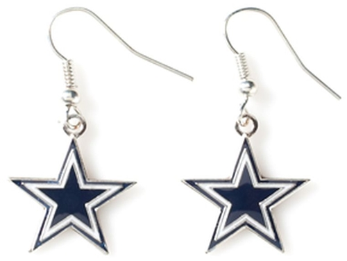 Dallas Cowboys Star NFL Dangle Earrings