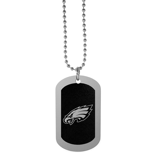 cheap for discount 4ecd8 b6979 Philadelphia Eagles NFL Black Chrome Dog Tag Necklace