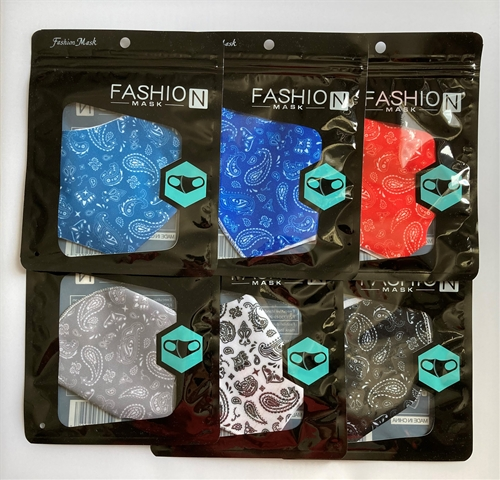 12 Pack Assorted Paisley Design Reusable Face Masks w/ Ear Loops *NEW $1.50 EACH*