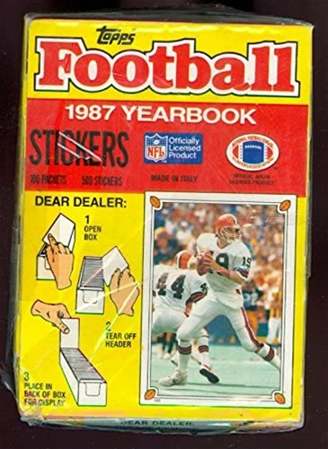 1987 Topps NFL Football Yearbook Stickers - 100 Pack Box *NEW*
