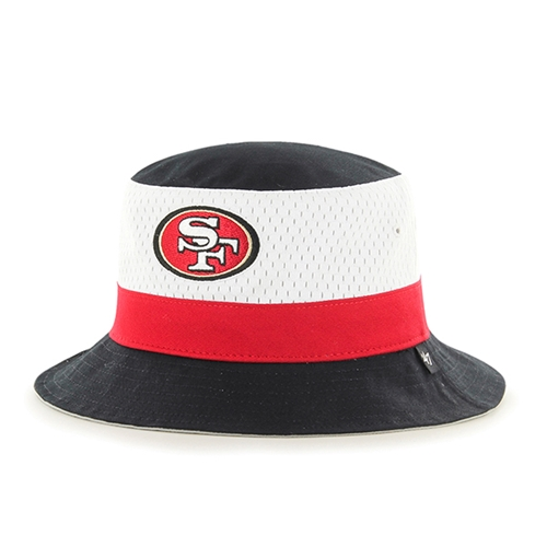 San Francisco 49ers NFL Black Double Line Bucket Hat *NEW*