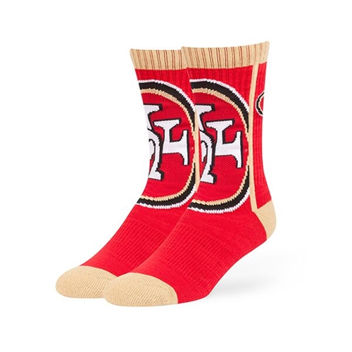 San Francisco 49ers NFL Red Hot Box Sport Sock *NEW* Size L
