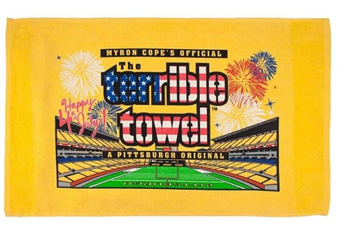 Pittsburgh Steelers Official Gold 4th of July Terrible Towel *CLOSEOUT*