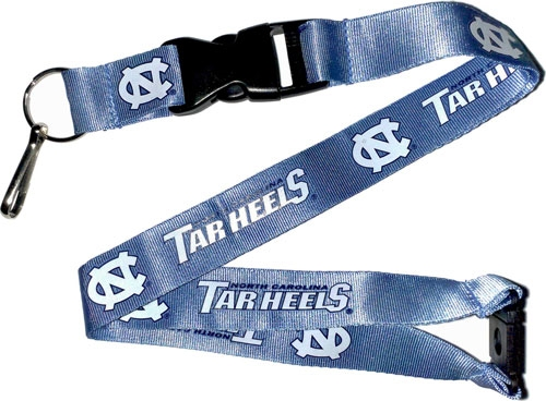 North Carolina Tar Heels NCAA Blue Lanyard