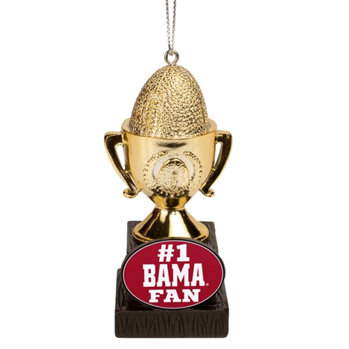 Alabama Crimson Tide NCAA #1 Fan Trophy Ornament *MARCH MADNESS CLOSEOUT*