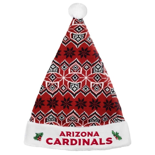 "Arizona Cardinals NFL Knit Holiday 18"" Christmas Santa Hat"