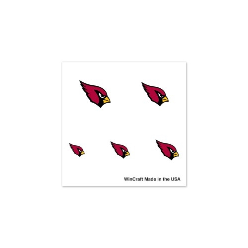 Arizona Cardinals NFL 20 Pack Fingernail Tattoos