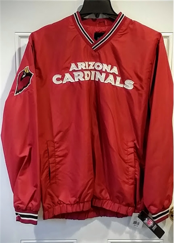 Arizona Cardinals NFL Men's Red Match Up Light Weight V-neck Pullover Jacket *CLOSEOUT* - Size L