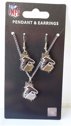Atlanta Falcons NFL State Design Pendant & Earrings Set *CLOSEOUT*
