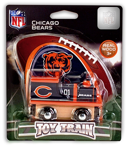 Chicago Bears NFL Wooden Toy Train
