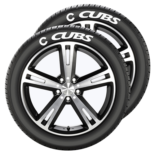 Chicago Cubs MLB Team Tire Tatz Sidewall Decals Set of 2 *CLOSEOUT*