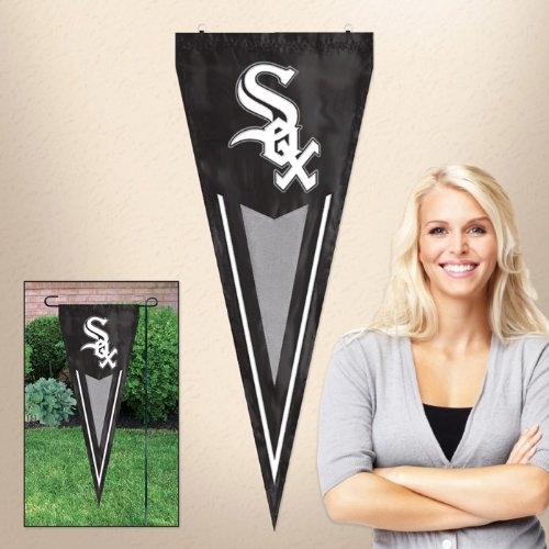 "Chicago White Sox MLB 34"" x 14"" Embroidered 1-Sided Yard & Wall Pennant Flag *CLOSEOUT*"