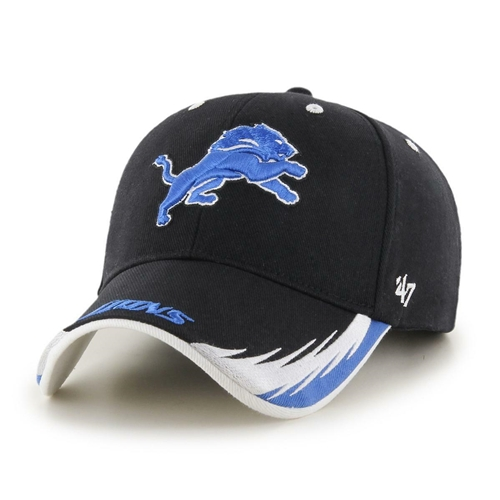 Detroit Lions NFL Black Take Down MVP Adjustable Hat *NEW*
