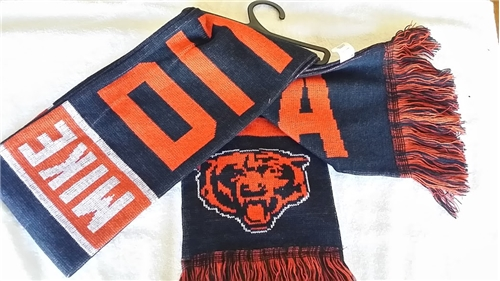 "Chicago Bears #89 Mike Ditka NFL Reversible 60"" Team Knit Scarf"
