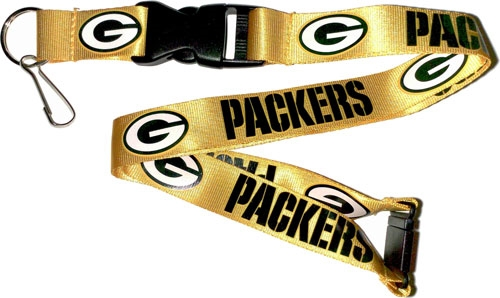 Green Bay Packers NFL Yellow Lanyard
