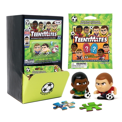 International Soccer Teenymates Figures Gravity Feed Box - 32 Packs *SALE*