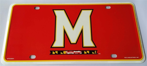 Maryland Terrrapins Logo NCAA Printed Metal License Plate Tag *CLOSEOUT $1 EACH*