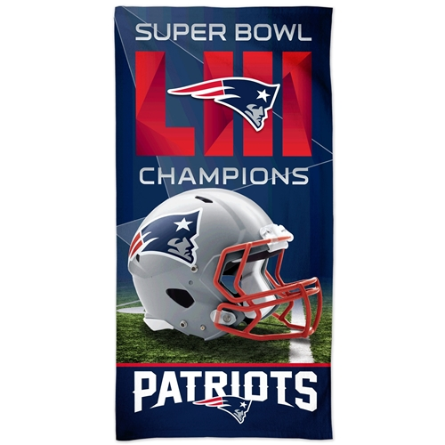New England Patriots NFL Super Bowl LIII (53) Champions Spectra Beach Towel *SOLD OUT*