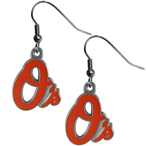 Baltimore Orioles MLB Silver Dangle Earrings *CLOSEOUT*