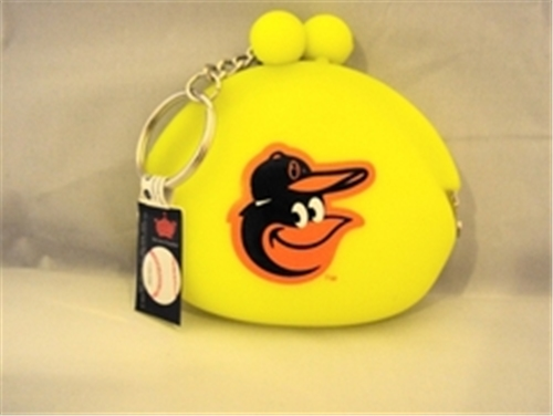 Baltimore Orioles MLB Neon Silicone Coin Purse Key Ring *CLOSEOUT*