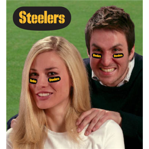 Pittsburgh Steelers NFL Vinyl Face Decorations 6 Pack Eye Black Strips *SALE*