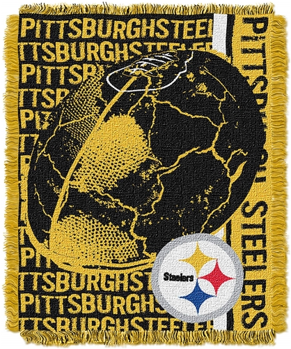 Pittsburgh Steelers NFL Jacquard Woven Double Play Throw Blanket *NEW*