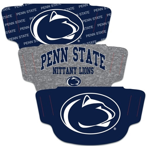 Penn State Nittany Lions NCAA 3-Pack Fan Mask Face Covering
