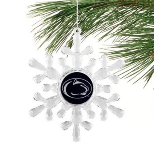 Penn State Nittany Lions NCAA Traditional Snowflake Ornament 6ct Box *SALE*