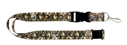 Colorado Rockies MLB Brown Camo Lanyard *SALE*