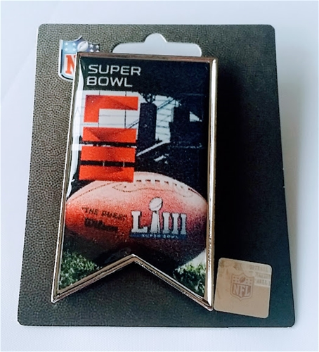 Super Bowl LIII Logo NFL Banner Collector Pin *CLEARANCE*