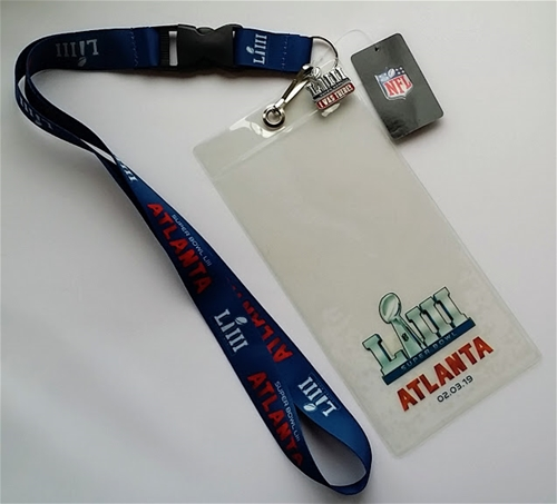Super Bowl LIII (53) NFL Lanyard Ticket Holder & Pin Combo *CLOSEOUT*