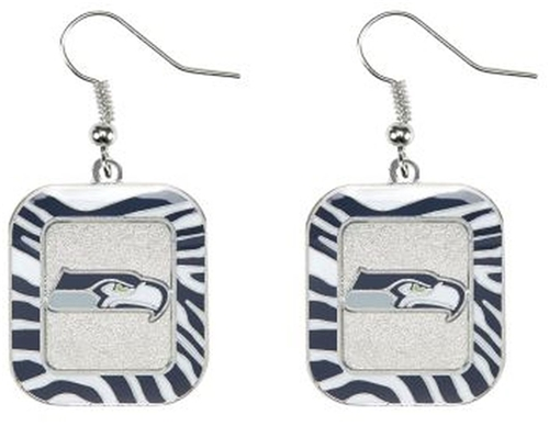 Seattle Seahawks NFL Zebra Stripes Dangle Earrings *SALE*