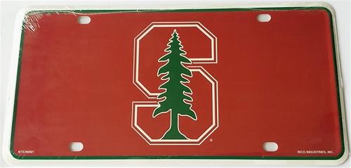 Stanford Cardinal Logo NCAA Printed Metal License Plate Tag *CLOSEOUT $1 EACH*