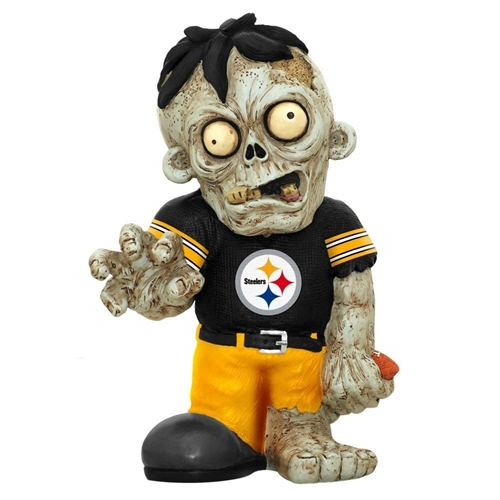 Pittsburgh Steelers Resin Zombie Sitting on Logo 12 Count Case *NEW*
