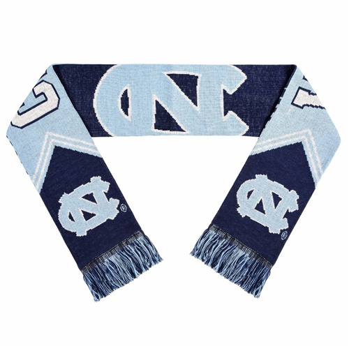 "North Carolina Tar Heels Reversible Stripe NCAA 60"" Team Knit Scarf *MARCH MADNESS CLOSEOUT*"
